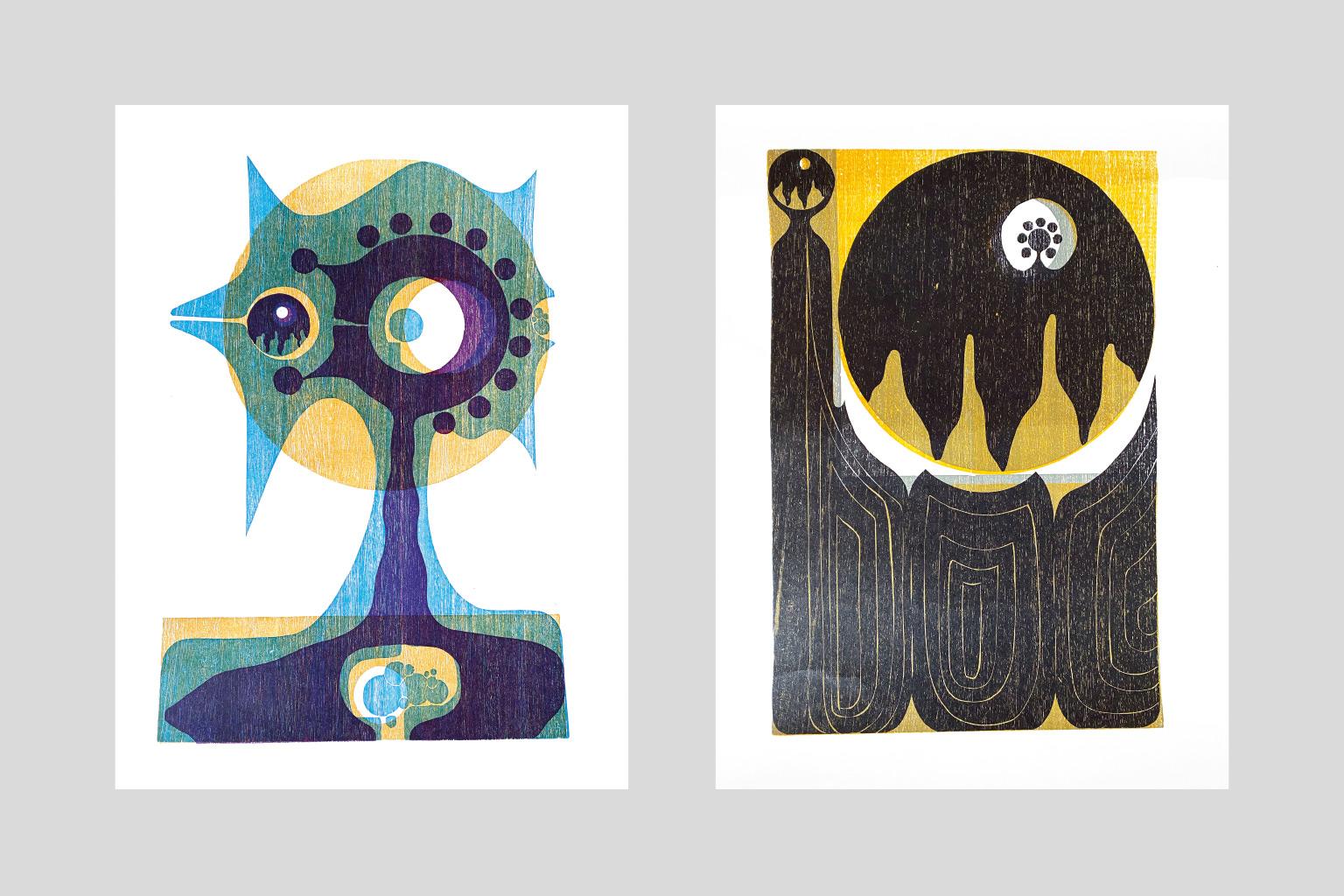 Holzschnitte von Manfred Degenhardt