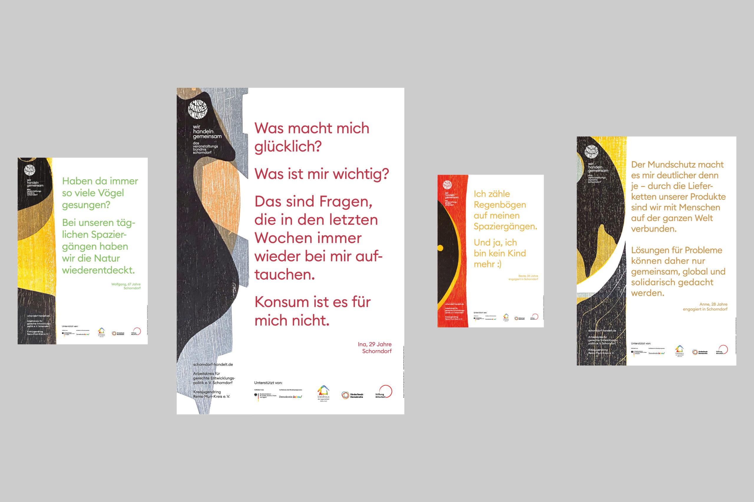 Wir handeln gemeinsam — Plakataktion — Übersicht Plakate
